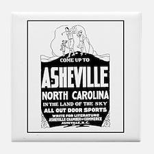 Asheville NC - Vintage Ad Tile Coaster