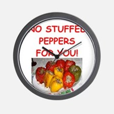 stuffed peppers Wall Clock