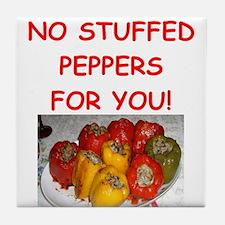 stuffed peppers Tile Coaster
