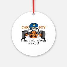 Car Guy Ornament (Round)