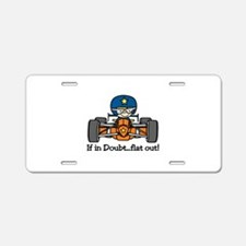 Flat Out Aluminum License Plate