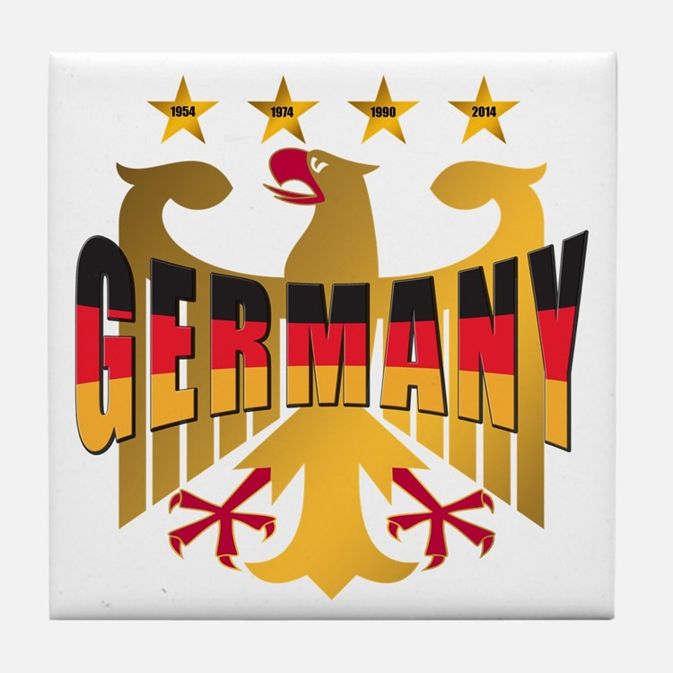 Germany four Star Champions Tile Coaster