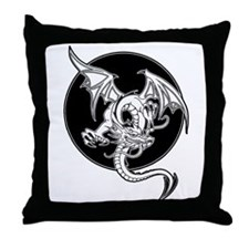Dark Dragon Throw Pillow