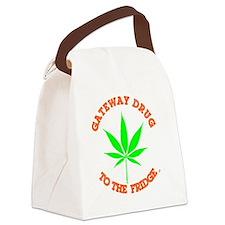 Funny Oregon norml medical marijuana caduceus Canvas Lunch Bag