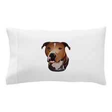 Pitbull head portrait Pillow Case