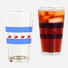 Chicago Hockey Drinking Glass