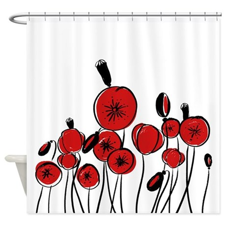 Red Poppies Shower Curtain By Admin CP2452714