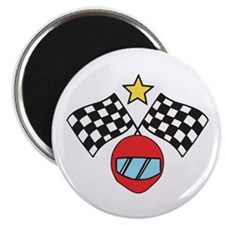 Helmet Checkered Flags Magnets