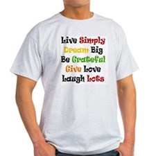 Live Simply in Black T-Shirt