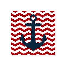 "Nautical Anchor Square Sticker 3"" x 3"""