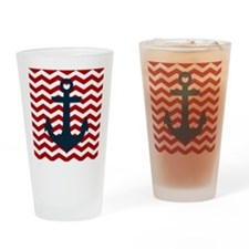 Nautical Anchor Drinking Glass