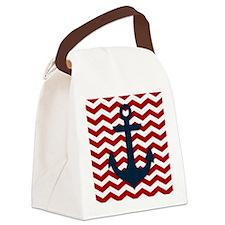 Nautical Anchor Canvas Lunch Bag