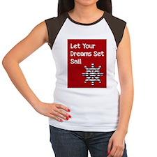 Nautical Wheel Women's Cap Sleeve T-Shirt