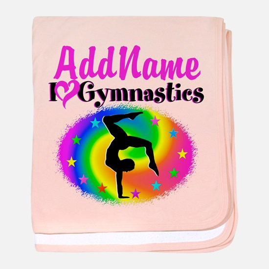 GYMNAST STAR baby blanket