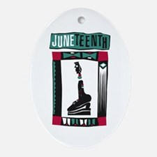 Juneteenth Oval Ornament
