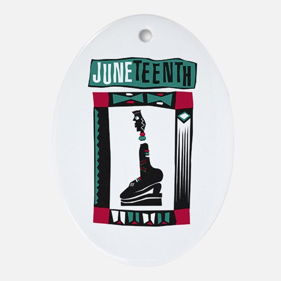 Juneteenth Oval Ornament