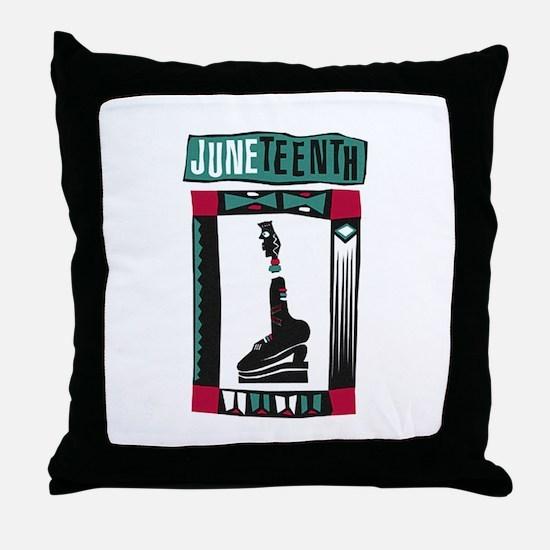 Juneteenth Throw Pillow