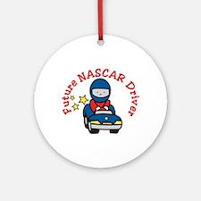 Future NASCAR Driver Ornament (Round)