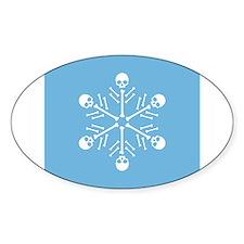 Skull Snowflake Decal