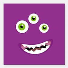 """Purple People Eater Square Car Magnet 3"""" x 3"""""""