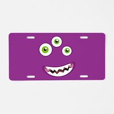 Purple People Eater Aluminum License Plate