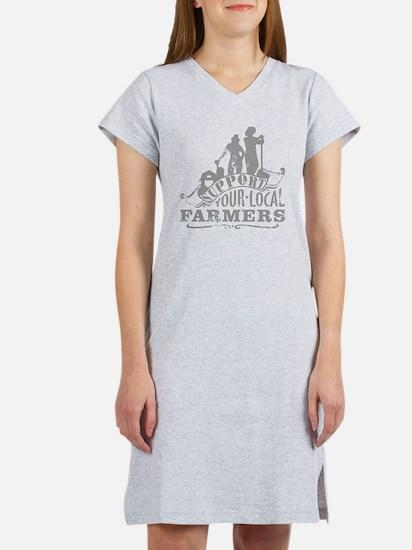 Suppor Local Farmers Women's Nightshirt