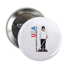 """USA Blind American Awareness Day 2.25"""" Button"""