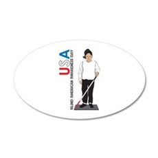 USA Blind American Awareness Day Wall Decal