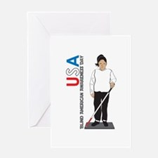 USA Blind American Awareness Day Greeting Cards