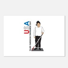 USA Blind American Awareness Day Postcards (Packag