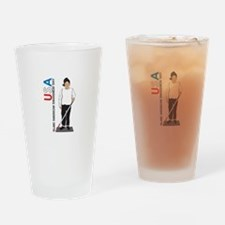 USA Blind American Awareness Day Drinking Glass