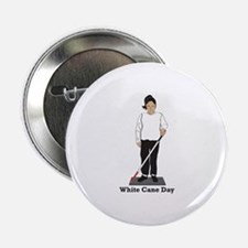 "White Cane Day 2.25"" Button"