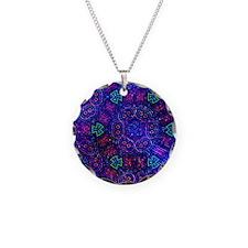 Space Symbols Necklace Circle Charm