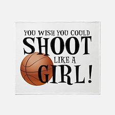 Shoot Like a Girl Throw Blanket