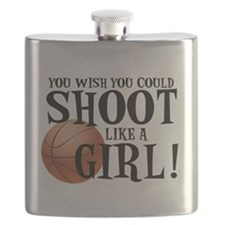 Shoot Like a Girl Flask