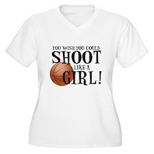 Shoot Like a Girl Plus Size T-Shirt