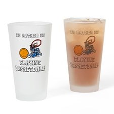Rather Be Playing Basketball Drinking Glass