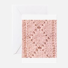 Pink Knitting - Crafty Greeting Cards (Package of