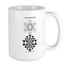 Gratitude and Love in Black Mugs