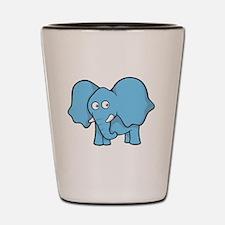 Unique Blue elephant Shot Glass