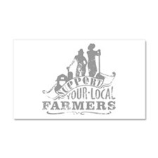 Support Your Local Farmers Car Magnet 20 x 12