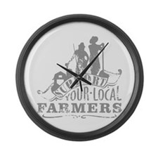 Support Your Local Farmers Large Wall Clock