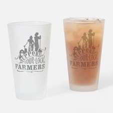 Support Your Local Farmers Drinking Glass