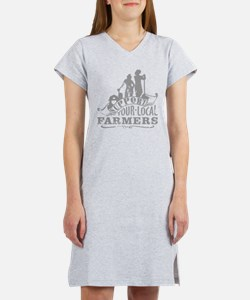 Support Your Local Farmers Women's Nightshirt