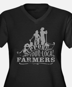 Support Your Local Farmers Plus Size T-Shirt