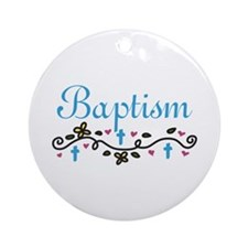 Baptism Ornament (Round)