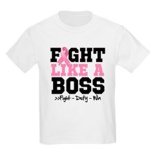 Fight Like a Boss Breast Cancer T-Shirt