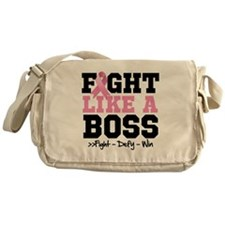 Fight Like a Boss Breast Cancer Messenger Bag