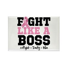 Fight Like a Boss Breast Cancer Rectangle Magnet
