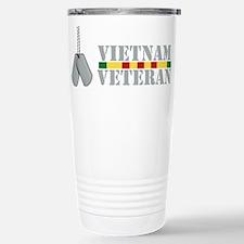 Vietnam Veteran Dog Tags Travel Mug